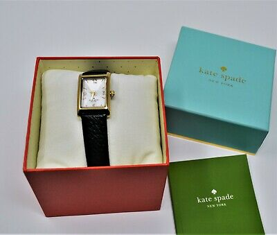 $ CDN57.42 • Buy Kate Spade New York Cooper Strap Watch Gold Tone MOP Black Leather, $195
