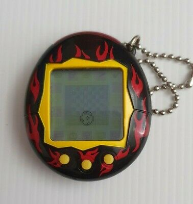 AU99.99 • Buy Tamagotchi Bandai Virtual Pet 2004 - Black And Red Flames TESTED AND WORKING