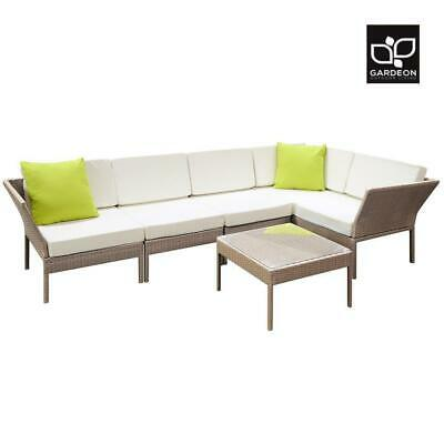 AU589.90 • Buy Gardeon Outdoor Sofa Set 6pc Lounge Setting Wicker Furniture Table Couch Brown