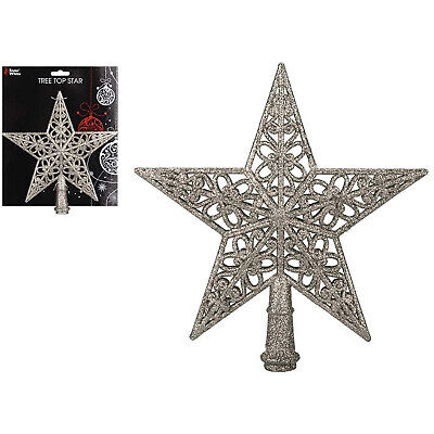 Champagne Gold Christmas Tree Topper Festive Decoration 22cm  • 4.99£