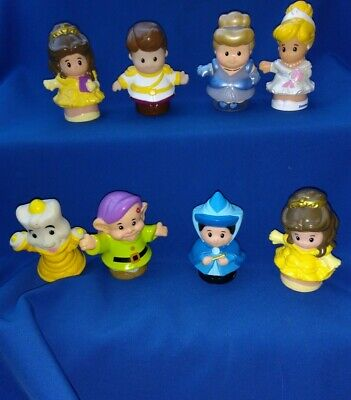 Little People Disney Plastic Toy Figures Belle Cinderella Prince Charming Fairy • 16£