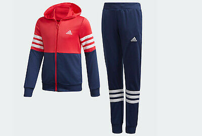 Girls Adidas Hooded Tracksuit Set Age 11-12, 12-13 Pink Tracktop & Pants New  • 36.99£
