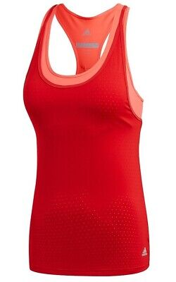 £15.99 • Buy New Adidas Workout Vest Tank Sports Bra Top - Ladies Womens Gym Fitness - Red