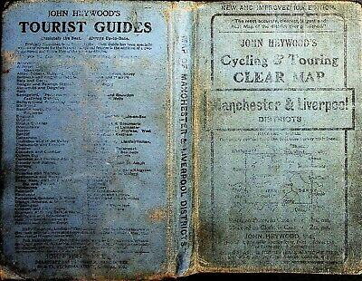 £16.95 • Buy 1880 ? John Heywood's Cycling & Touring Clear Map Manchester Liverpool Unusual