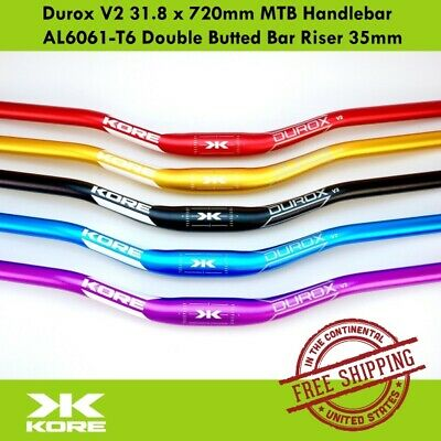 $29.90 • Buy KORE Durox V2 31.8 X 720mm MTB Handlebar AL6061-T6 Double Butted Bar Riser 35mm