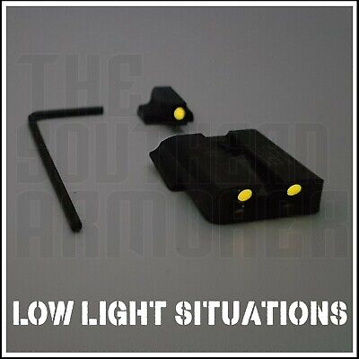 $49.99 • Buy Red Glow Tsa Night Sights For Smith & Wesson S&w M&p Sd9 Sd40 Shield