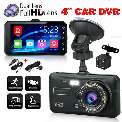 AU42.99 • Buy Front And Rear Car Dash Camera Dual Camera Dash Cam Video DVR Recorder FHD Touch