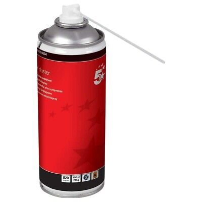 5* Star Compressed Air Duster 400ml New Computer Keyboard Dust Blower Cleaner • 6.75£