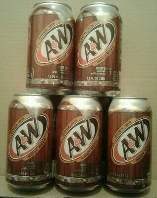 A & W Root Beer (5 X 12 FL OZ / 355 ML Cans) Caffine Free US Import BBE Mar 2021 • 5.50£