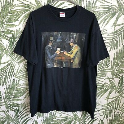 $ CDN65.33 • Buy Supreme Collection Black 2018 Lafayette Street Card Game T-Shirt Mens Large SS18