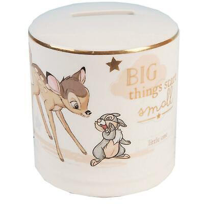 Disney Magical Beginnings Ceramic Money Box Bank  - Bambi Gift • 11.94£