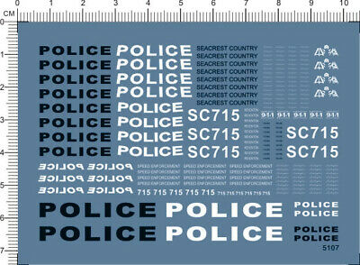 £3.99 • Buy Water Slide Decals Seacrest County SCPD POLICE 911 (5107) For Model Kits