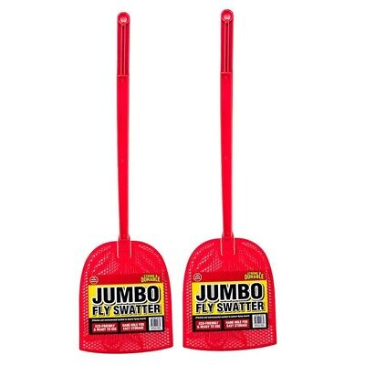 AU14.90 • Buy  2 Pieces Red Fly Swatter Jumbo Strong Flexible Head Durable Plastic