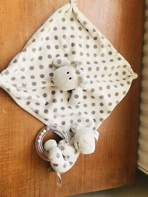 £2.99 • Buy Elli And Raff Unisex Baby Comforter & Matching Soft Toy Rattle