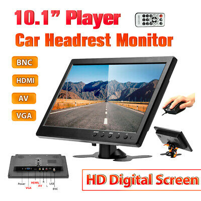 10  Inch LCD Monitor TFT Display BNC AV VGA HDMI CCTV Securit FOR BUS/Truck/RV • 52.99£