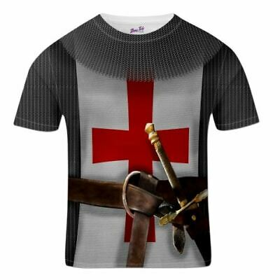 St George's Day England T-Shirt For Men  Knight Costume • 11.97£