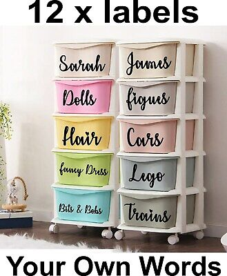 £4.95 • Buy 12x Mrs Hinch Inspired Storage Box Labels/Stickers Kitchen,Bathroom,Pantry,Home
