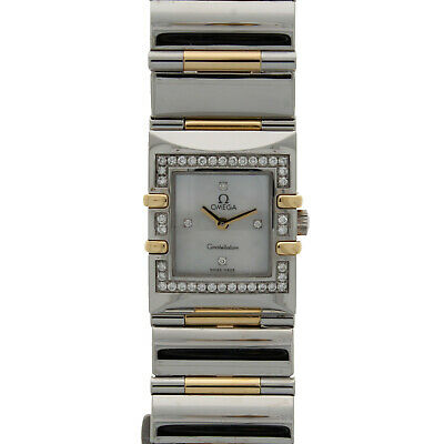 Ladies Omega Constellation Quadra 18ct Yellow Gold & Steel Diamond Set 13357600 • 2,350£