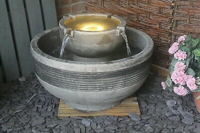 Large Stone Circulum Water Fountain Garden Ornament Patio Self Contained Feature • 457.80£