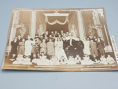 Royal Family Original Press Release Photo The Queen Charles Diana At Wedding • 37£