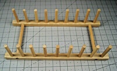 £7.09 • Buy Wooden Dish Drying Rack Drainer Kitchen Plate Holder Stand 8 Slots