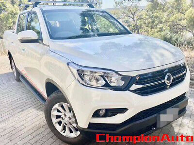 AU399 • Buy SsangYong Musso / Musso XLV Dual Double Cab 4 DOORS Side Steps 2019-2022 (SHARK)
