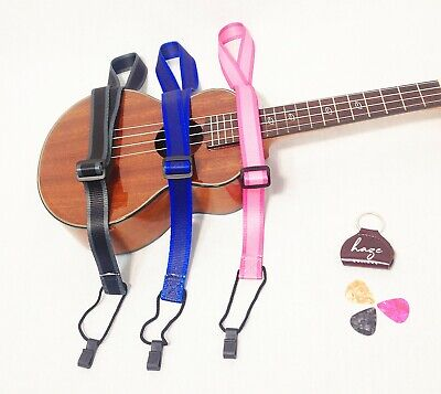 AU13 • Buy   Haze Adjustable Nylon Ukulele Strap Sling With Hook Free Pick Hold ,3 Picks