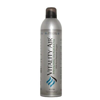 Vitality Air 95% Pure Premium Oxygen In A Canister Inhalation Portable 10 Litres • 27.95£