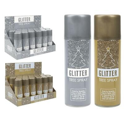 Silver Gold Shiny Glitter Spray Paint Craft Decoration Christmas Tree 175ml • 4.95£