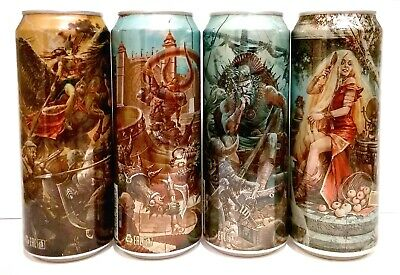 $ CDN36.26 • Buy EMPTY CANS! FAXE Beer Cans 4 Pcs Norse Gods Part 1-4 450 Ml. Limited Bottom Open