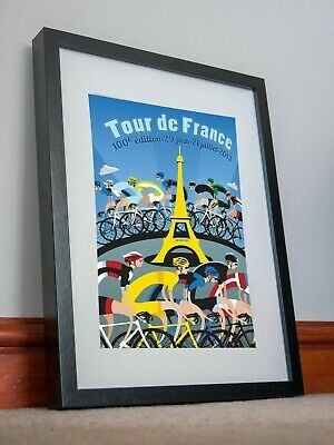 Tour De France 100th Edition 2013 Poster Print Picture Holiday Gift Sport Decor • 14.99£