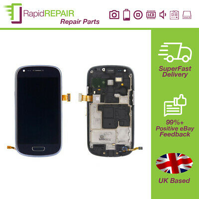 Samsung Galaxy S3 Mini I8190 Display Touch Screen Digitizer Blue With Frame • 25.74£