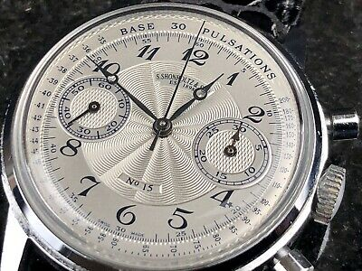 $ CDN2345.44 • Buy Vintage Chronograph Watch Valjoux 7730 Movement Signed S.Shonholtz & Son