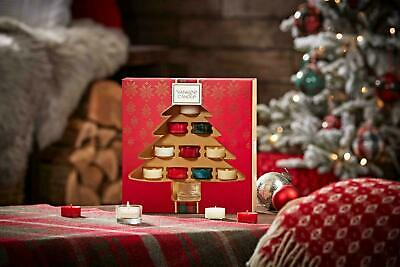 Yankee Candle Festive Tealight Gift Set Christmas Candles & Holders Pack Of 10 • 14.99£