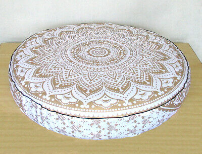 £13.99 • Buy Indian Round Floor Pillow Cushion Cover Cotton Large New Meditation Pouf