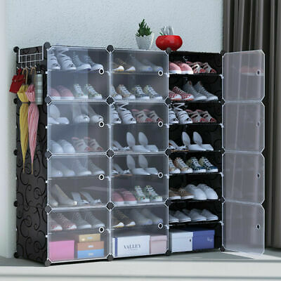 AU59.99 • Buy Clear Door Cube DIY Shoe Cabinet Rack Storage Portable Stackable Organiser Stand