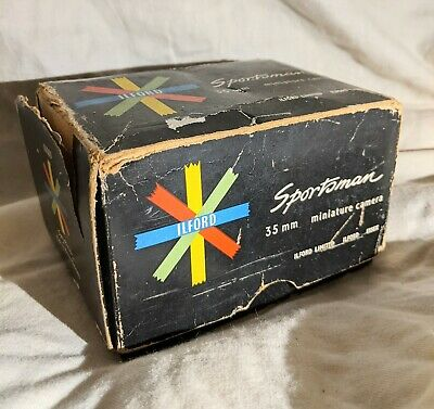 Rare Vintage Ilford Sportsman 35mm Miniature Camera, Box And Cover For Lens • 16£