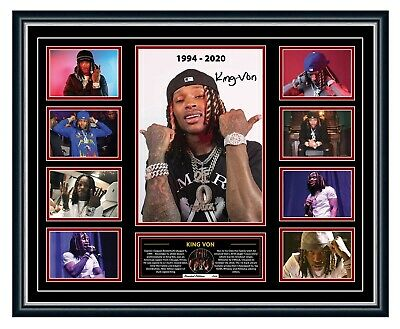 AU99.99 • Buy King Von Tribute Welcome To O'block Signed Limited Edition Framed Memorabilia