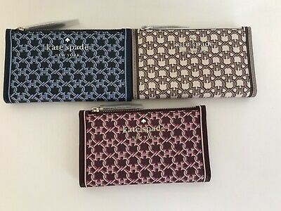 $ CDN45.26 • Buy NWT!!Kate Spade Spade Link Small Slim Bifold Wallet In 3 Colors