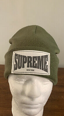 $ CDN99.76 • Buy Supreme Woven Label Beanie/ Olive Os (in Hand) Week 11 (authentic) Brand New