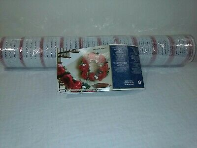 Kirkland CHRISTMAS Mesh RIBBON Silver Red WIRE EDGED CRAFT DECORATION 10 Yards • 9.99£