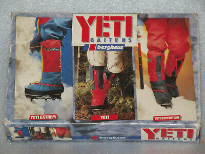 Vintage Made Gt Britain Berghaus Yeti Extrem Gaiters Rare Colour Red Blue Yellow • 59.99£
