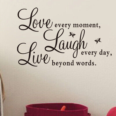 Live Laugh Love Quote Removable Vinyl Decal Wall Sticker Home Decor Art Hot   • 3.17£