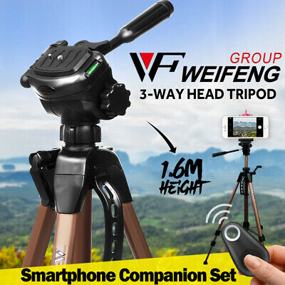 AU36.51 • Buy Weifeng 1.6m Camera Tripod Stand Optional Remote Phone Holder For IPhone Samsung