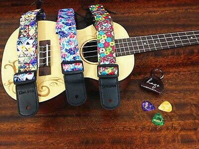 AU13 • Buy Haze Adjustable Colourful Design Ukulele Strap With Pick Hold ,3 Picks