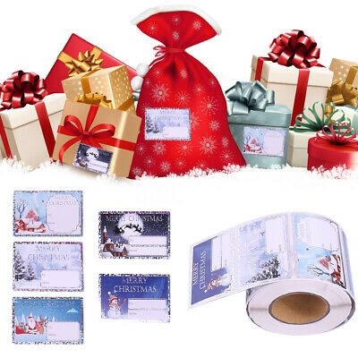 Holographic Christmas Self Adhesive Gift Labels Traditional Assorted Stickers • 1.95£