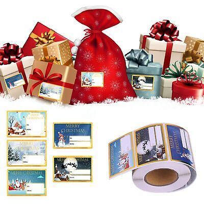 Gold Christmas Self Adhesive Gift Labels Tags Traditional Assorted Stickers Wrap • 1.95£