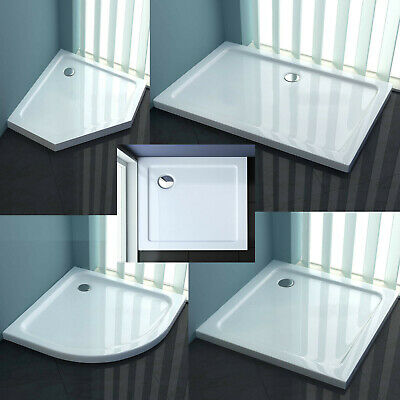 Shower Enclosure Tray ACRYLIC Slimline 40 Mm Corner Rectangle Square  • 49.99£