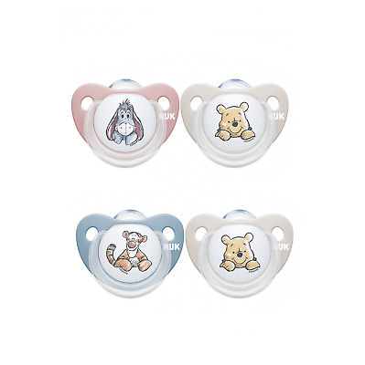 £10.20 • Buy NUK Newborn Baby Girl Boy Soother Dummy Pack Of 2 WINNIE Silicone Age 0-6 Months