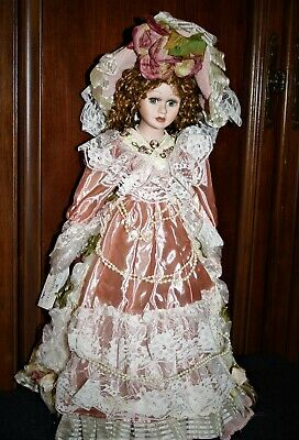 $ CDN22.21 • Buy VICTORIAN Porcelain 17  DESIREE Doll W/Long Curly Hair By ANASTASIA Collection